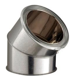 Elément de coude 45° - inox-galva - Poujoulat
