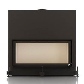 Insert bois BRUNNER ARCHITECTURE 45/101 - 14kW avec porte relevable et vitre plate
