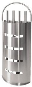 Serviteur de cheminée 4 accessoires, en acier inoxydable brossé mat - Lienbacher