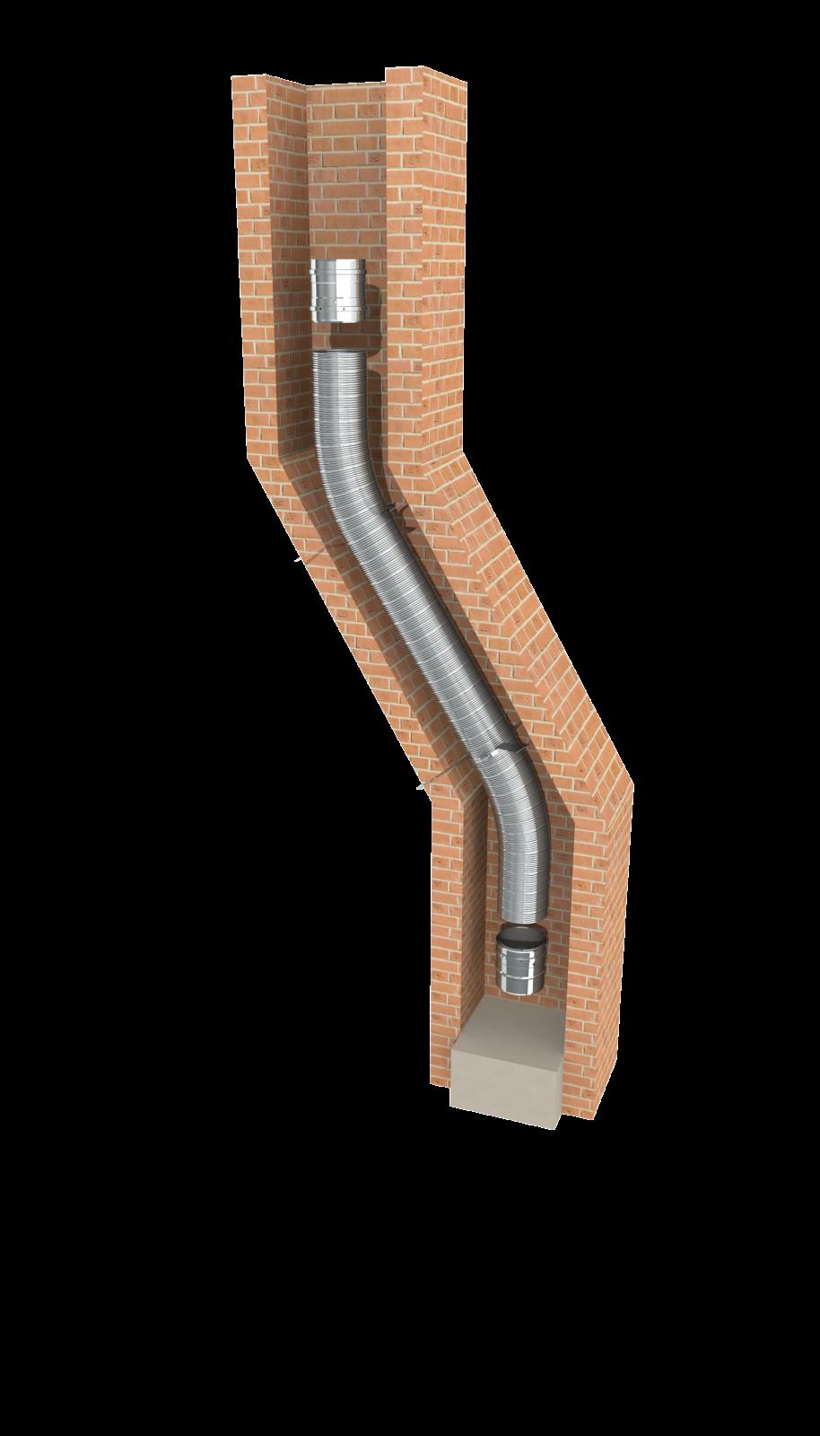 tubage inox flexible double peau r novation de conduit. Black Bedroom Furniture Sets. Home Design Ideas