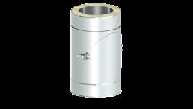 Elément droit 250 mm avec purge latérale - double paroi - TEC-DW-LIGHT
