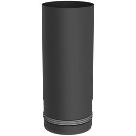 Conduit poêle à granulés - Elément droit 250mm - noir - Tecnovis Pellet-Line