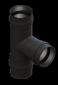 Té de raccordement avec cuvette à condensat récoupable - 90° - noir