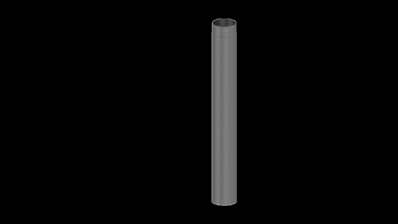 el ment droit 1000mm gris conduit po le bois double paroi tec fr isoline chemineeo. Black Bedroom Furniture Sets. Home Design Ideas