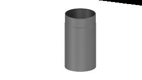Elément droit 330mm gris - Conduit poêle à bois - double paroi - TEC-FR-ISOLINE