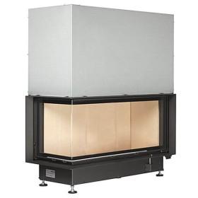 Insert bois BRUNNER ARCHITECTURE 45/101/40 – 14,5kW avec porte angulaire de gauche ou de droite